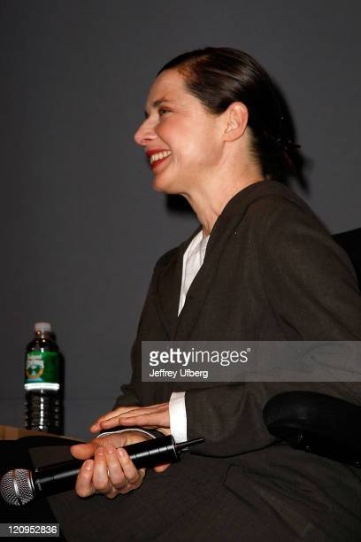 Actress/Writer/Director Isabella Rossellini speaks at the Apple Store Soho as part of the 7th Annual Tribeca Film Festival on April 29 2008 in New...