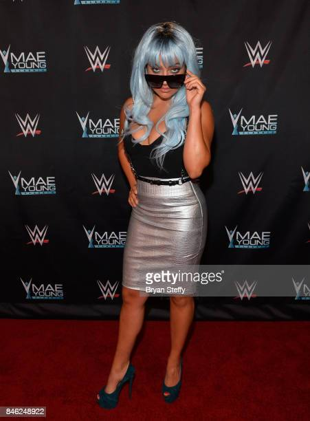 Actress/YouTube personality Inanna Sarkis appears on the red carpet of the WWE Mae Young Classic on September 12, 2017 in Las Vegas, Nevada.