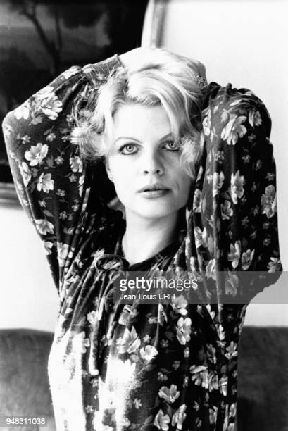 Actrice allemande Gisela Hahn en février 1978 à Rome, Italie.