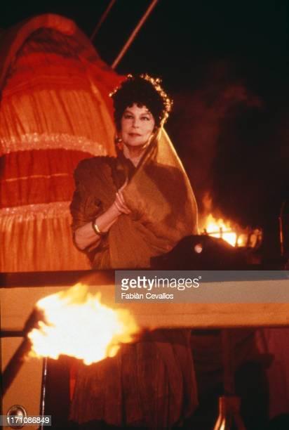 Actrice américaine Ava Gardner, dans le rôle de la redoutable Agrippine dans la mini-série télévisée Anno Domini, réalisée par Stuart Cooper La série...