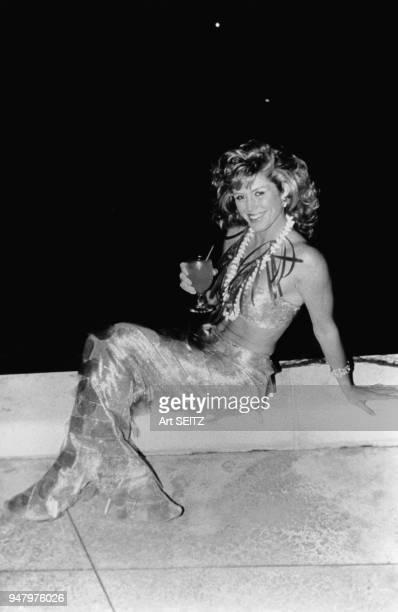 L'actrice américaine Donna Rice en costume de sirène en Floride aux Etats Unis en 1986
