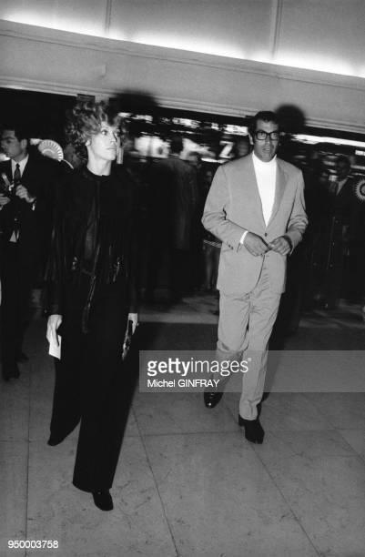 L'actrice américaine Jane Fonda et son mari le réalisateur français Roger Vadim