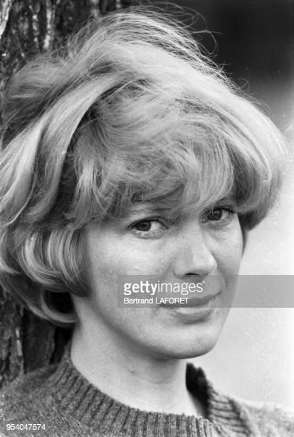 L'actrice américaine Mimsy Farmer à Paris en octobre 1982 France