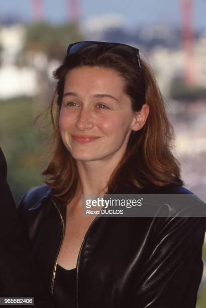 L'actrice Anne Brochet au Festival de Cannes le 19 mai 1990 France