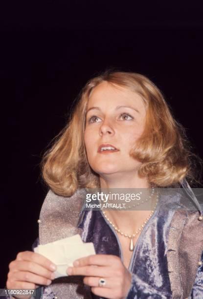 L'actrice AnneMarie Philipe sur scène au théâtre à Paris en mai 1976 France