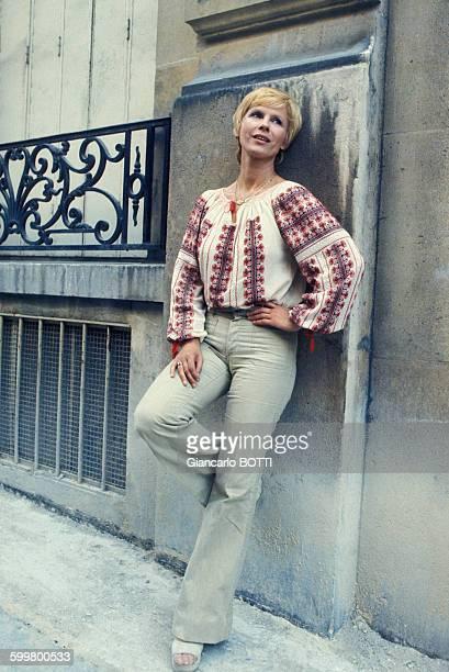 L'actrice Bibi Andersson circa 1970 en France