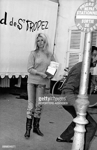 Actrice Brigitte Bardot, circa 1960 à Saint-Tropez, France .