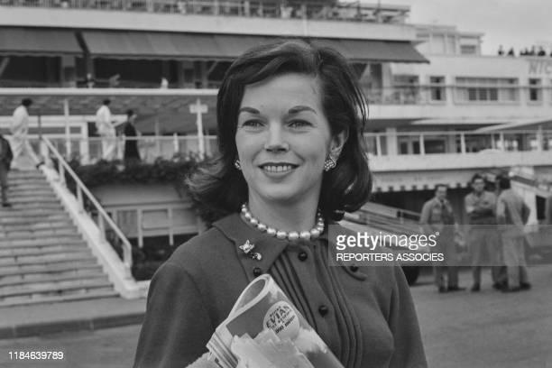 L'actrice britannique Dawn Addams en France le 10 janvier 1963