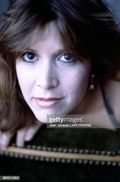 L'actrice Carrie Fisher le 20 septembre 1983 à Paris France