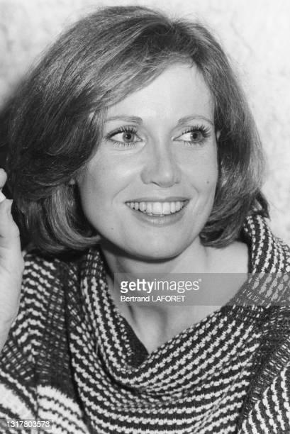 Actrice Catherine Alric lors du festival de film fantastique d'Avoriaz le 19 janvier 1984.
