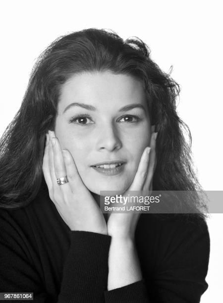 L'actrice Delphine Forest le 29 octobre 1993 à Paris France