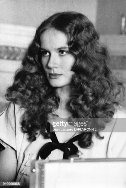L'actrice Dominique Sanda dans sa ferme de Houdan France en juin 1978
