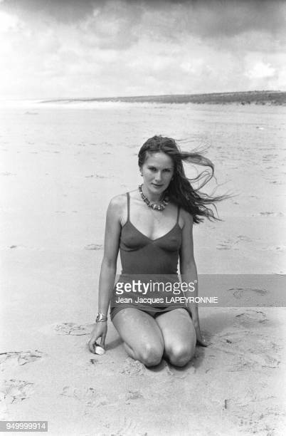 L'actrice Dominique Sanda passe ses vacances à Marrakech au Maroc en août 1978