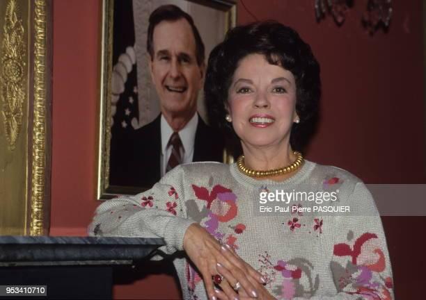 Actrice et ambassadrice américaine Shirley Temple Black en novembre 1989, Prague, République Tchèque.