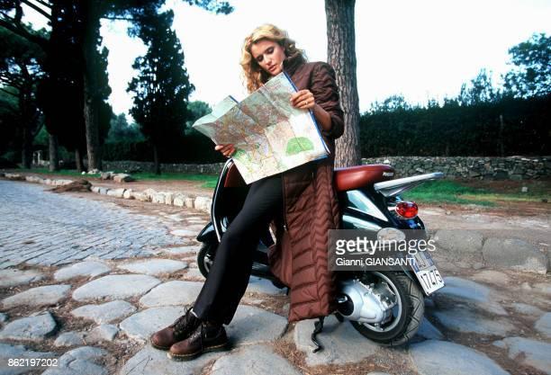 L'actrice et animatrice de télévision italienne Michela Rocco di Torrepadula à Rome en octobre 1999 Italie
