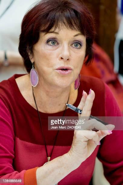 Actrice et écrivain française Anny Duperey lors de la 36e Foire du Livre le 12 novembre 2017 à Brive-la-Gaillarde, France.