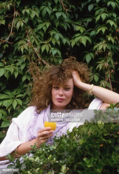 Actrice et mannequin américaine Kelly LeBrock au Festival de Deauville le 7 septembre 1984, France.