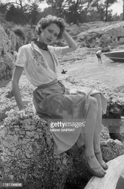 Actrice et mannequin hollandaise Sylvia Kristel à Cannes le 25 juin 1974, France.