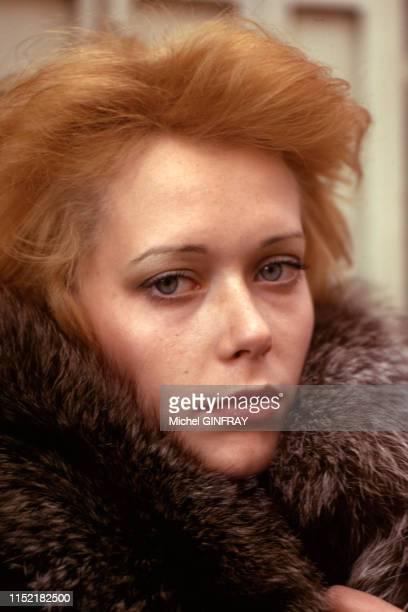 Actrice et mannequin néerlandaise Sylvia Kristel en mai 1974, France.