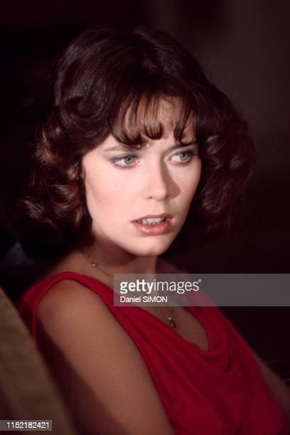 Actrice et mannequin néerlandaise Sylvia Kristel sur le tournage du film 'La dernière fugue' réalisé par Claude Chabrol le 28 juillet 1976, France.