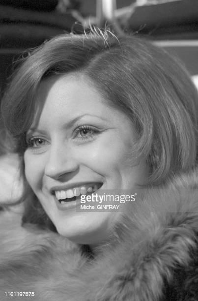 L'actrice française Andréa Ferréol à Paris en janvier 1974 France