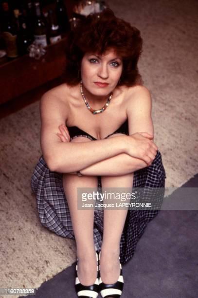 L'actrice française Andréa Ferréol à Paris le 5 mai 1982 France
