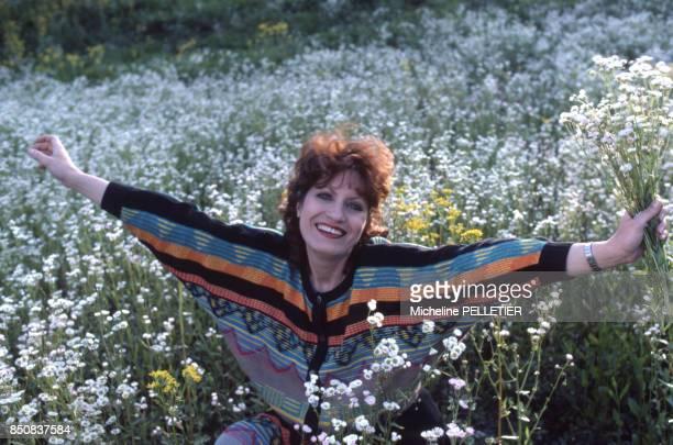 L'actrice française Andréa Ferréol sur le tournage du film 'Louisiane' le 2 mai 1983 France