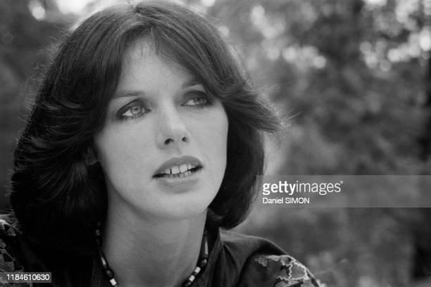 Actrice française Anny Duperey au Bois de Boulogne à Paris en aout 1973, France.