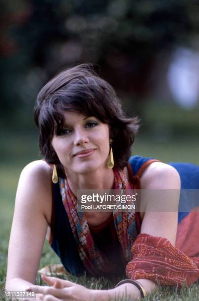 Actrice française Anny Duperey lors du Festival de Cannes en mai 1981, France.