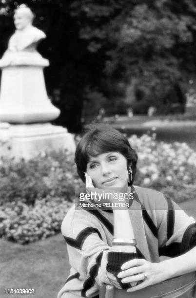 Actrice française Anny Duperey à Paris le 20 septembre 1985, France.