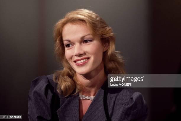 L'actrice française Brigitte Lahaie à Paris en mars 1987 France