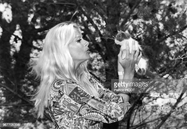 L'actrice française Christiane Minazzoli le 22 aout 1968 à Paris France