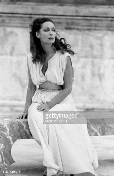 L'actrice française Claudine Coster à Paris en 1984 France