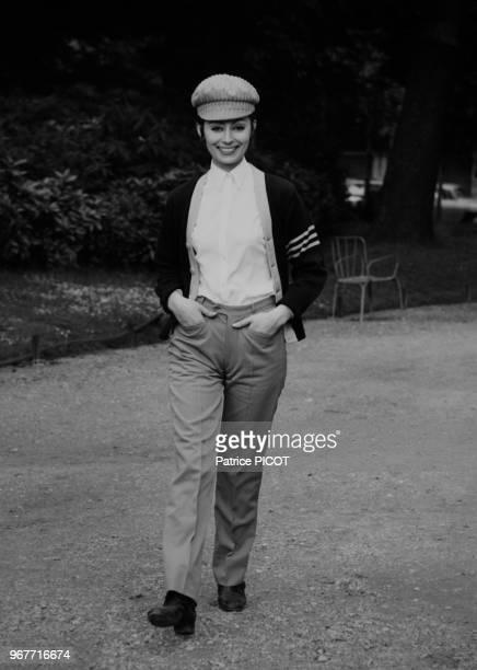 L'actrice française Claudine Coster à Paris le 31 mai 1967 France