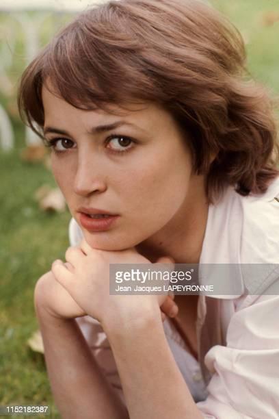 L'actrice française Dominique Laffin à Paris en septembre 1977 France