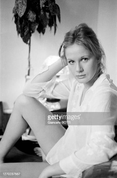 Actrice française Dominique Sanda à Paris en janvier 1970, France