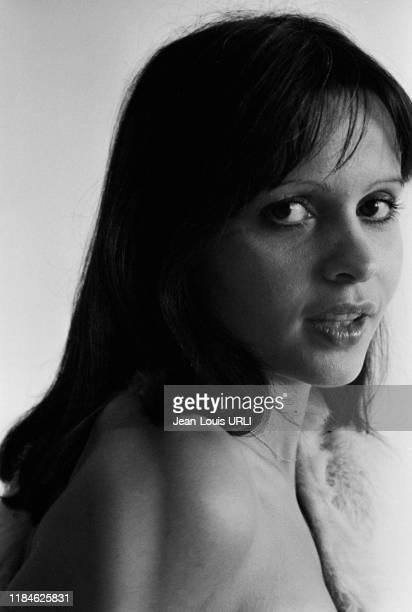 Actrice française Jeanne Goupil à Paris en 1978, France.