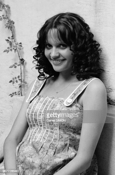 Actrice française Jeanne Goupil à Paris le 18 aout 1976, France.