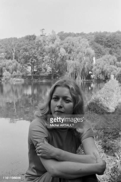 L'actrice française Marie Dubois à Orsay en juin 1974 FRance