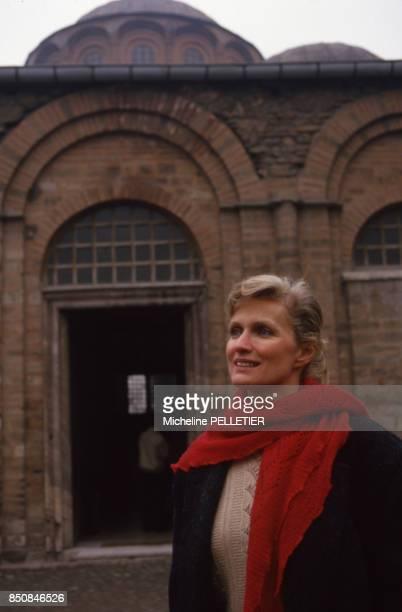 L'actrice française MarieChristine Barrault à Istanbul en janvier 1988 Turquie