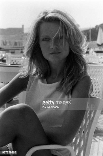 L'actrice française Mimi Coutelier lors du Festival de Cannes le 22 mai 1979 France