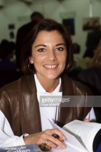 Actrice française Nicole Calfan à Paris en 1984, France
