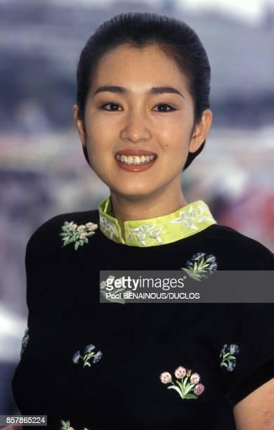 L'actrice Gong Li au photocall du film chinois Vivre realise par Zhang Yimou le 17 mai 1994 a Cannes France