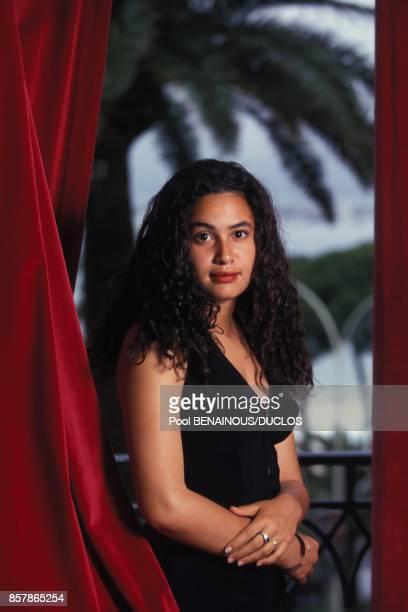 L'actrice Hend Sabri lors de la presentation du film tunisien Les silences du palais le 18 mai 1994 a Cannes France