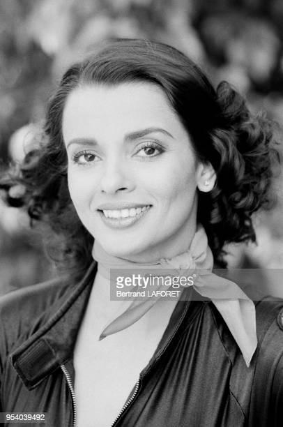 L'actrice indienne Persis Khambatta à Paris en mars 1982 France