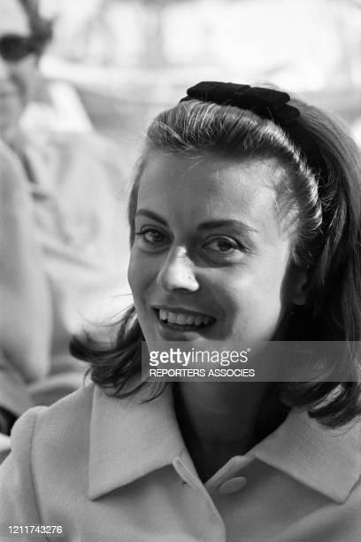 Actrice italienne Anna Maria Ferrero lors du Festival de Cannes en mai 1963, France.