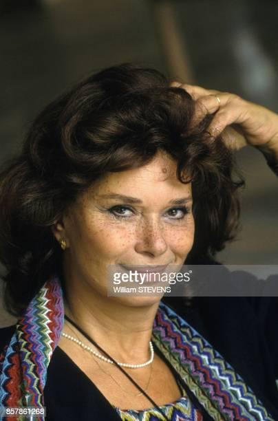 L'actrice italienne Lea Massari au Festival du Film Europeen le 5 octobre 1993 a La Baule France