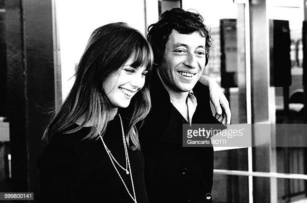 L'actrice Jane Birkin et Serge Gainsbourg en 1969