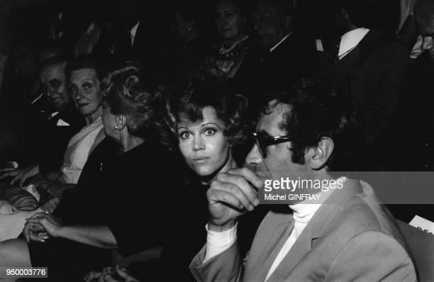 L'actrice Jane Fonda et son mari le réalisateur Roger Vadim