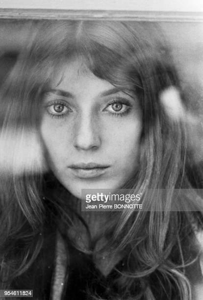 L'actrice Joanna Shimkus lors du tournage du film 'L'Invitée' en février 1969 à Besançon France